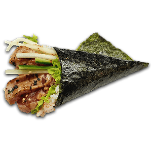Foto Flamed tonijn temaki